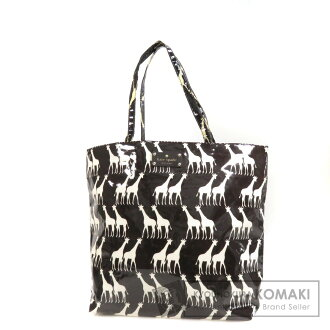 kate spade giraffe pattern tote bag vinyl Lady's