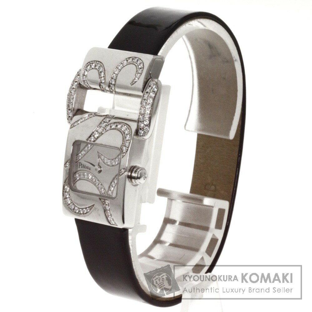 PIAGET ミスプロトコール ダイヤモンド 腕時計 K18ホワイトゴールド/革 レディース 【中古】【ピアジェ】