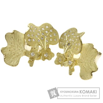 Authentic IKEDA KEIKO  Diamond earring 18K yellow gold