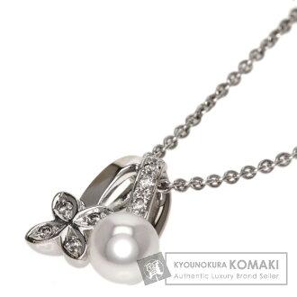 MIKIMOTO珍珠珍珠/钻石项链K18白色合金女士