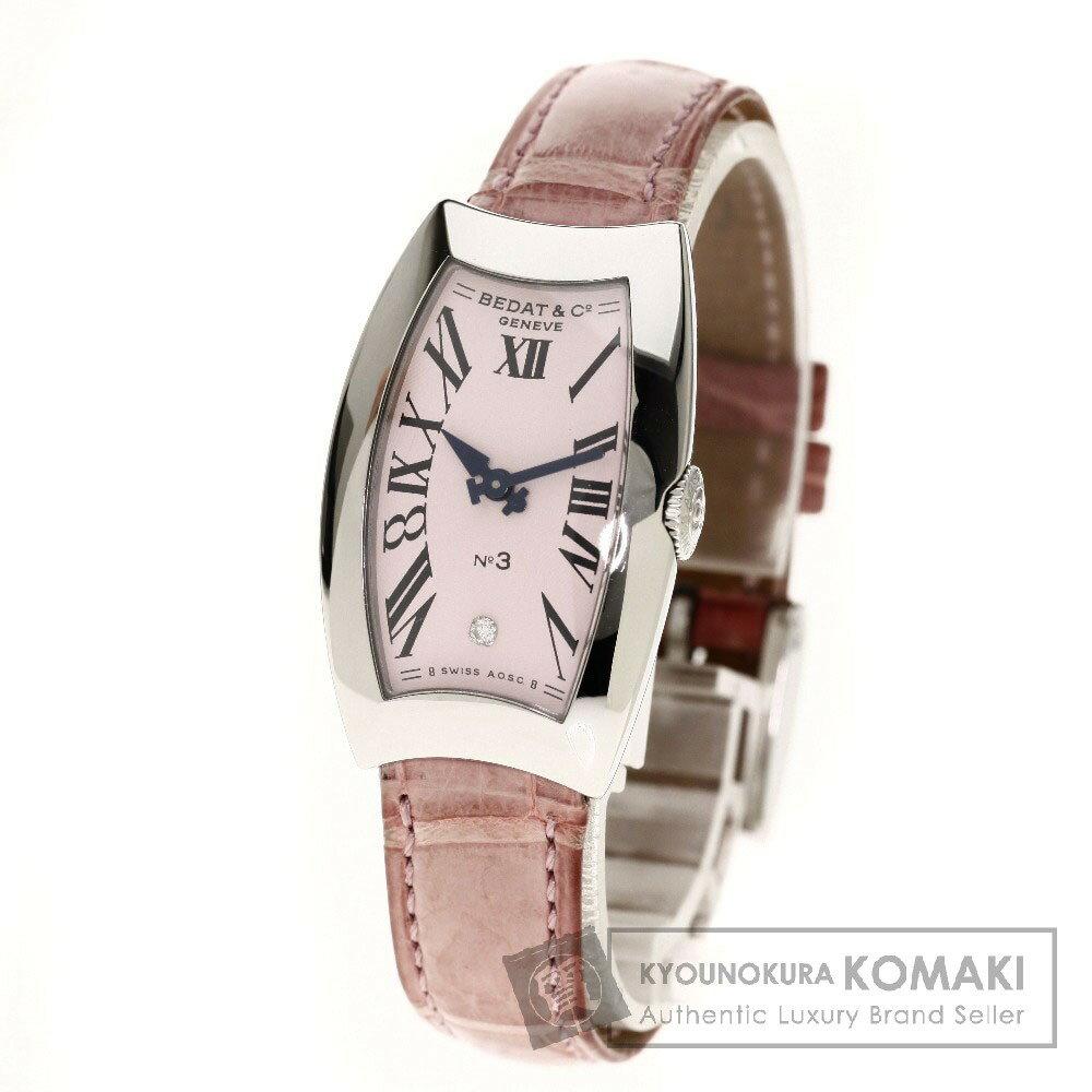 BEDAT&Co N0.3 1PD 腕時計 ステンレス/クロコダイル レディース 【中古】【ベダ&カンパニー】