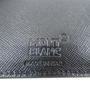 MONTBLANC ロゴデザイン 二つ折り財布(小銭入れなし) PVC メンズ 【中古】【モンブラン】