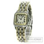 CARTIER パンテールSM 3ROW 腕時計 OH済 K18イエローゴールド/SS レディース 【中古】【カルティエ】