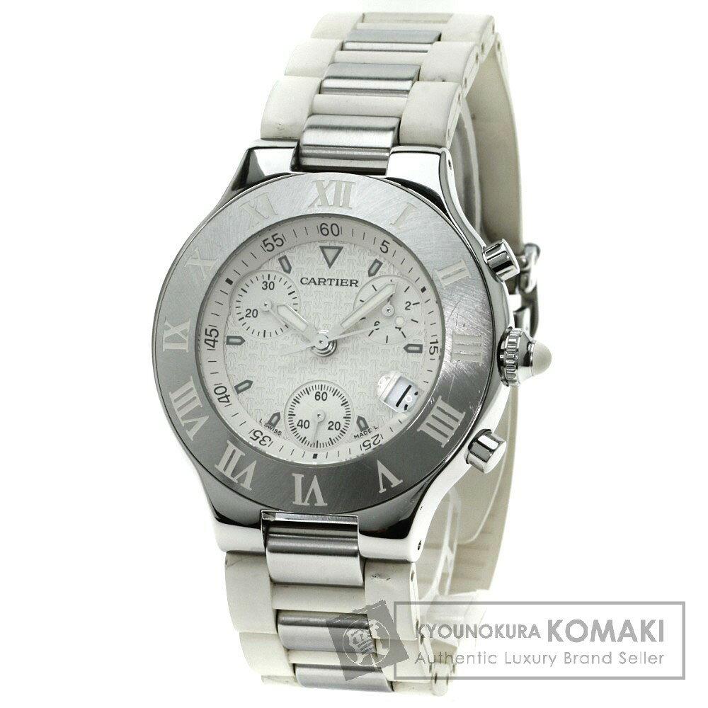 CARTIER クロノスカフ 腕時計 ステンレス/ラバー メンズ 【中古】【カルティエ】