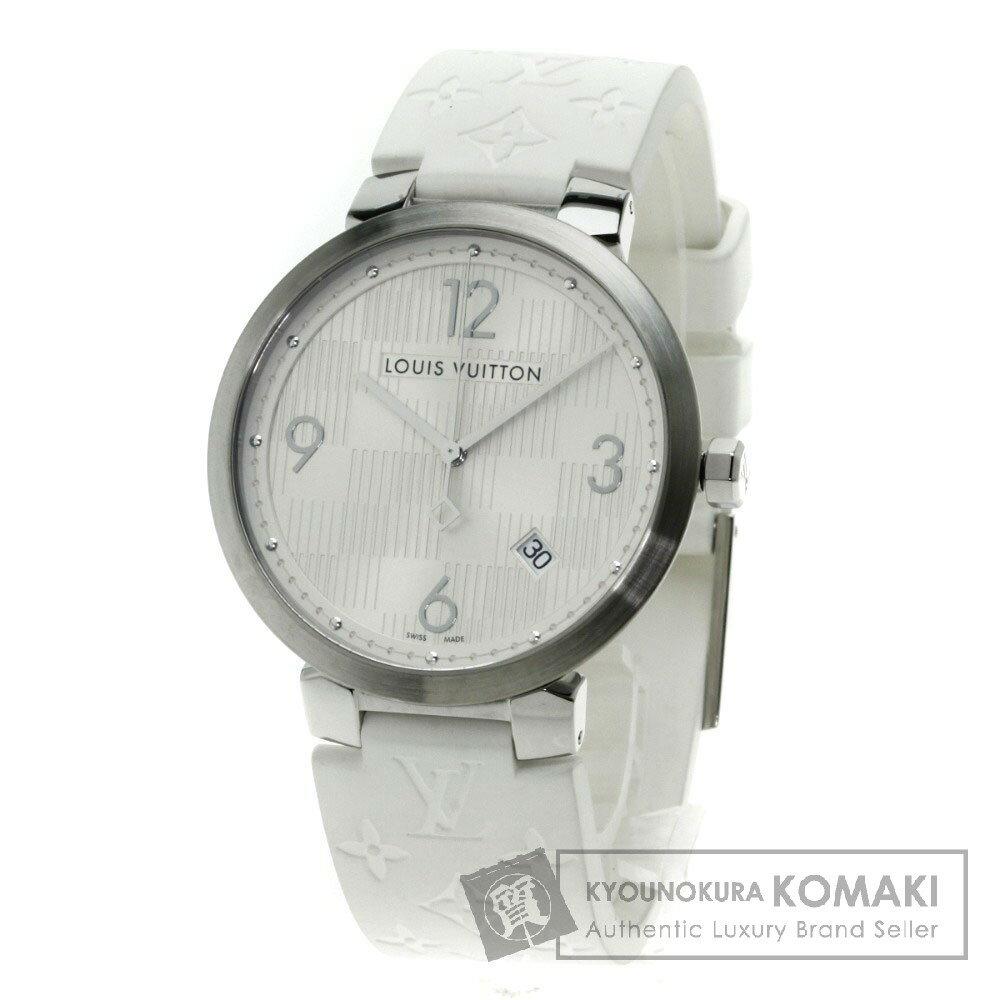 LOUIS VUITTON Q1D01 タンブール 腕時計 ステンレス/ラバー メンズ 【中古】【ルイ・ヴィトン】