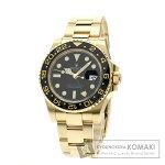 ROLEX 116718LN GMT マスター2 腕時計 K18イエローゴールド/K18YG メンズ 【中古】【ロレックス】