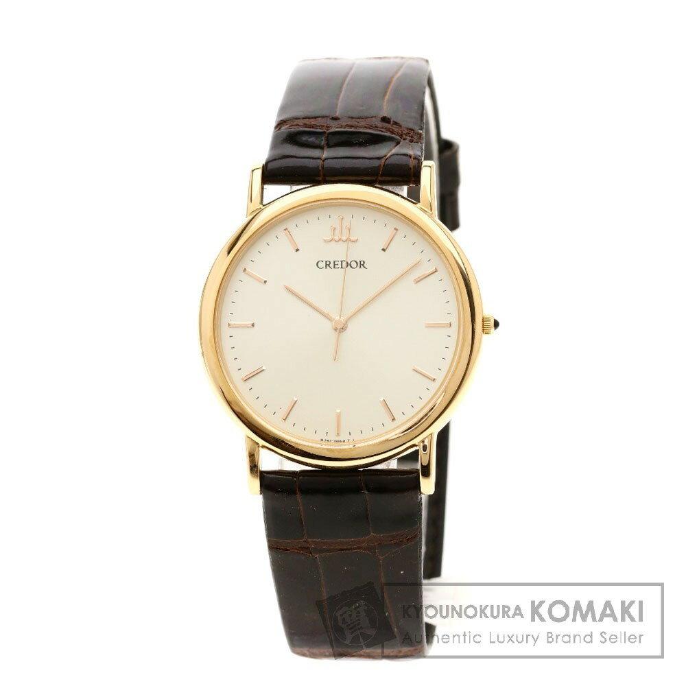 SEIKO 8J81-OACO クレドール 腕時計 K18ピンクゴールド/革 メンズ 【中古】【セイコー】