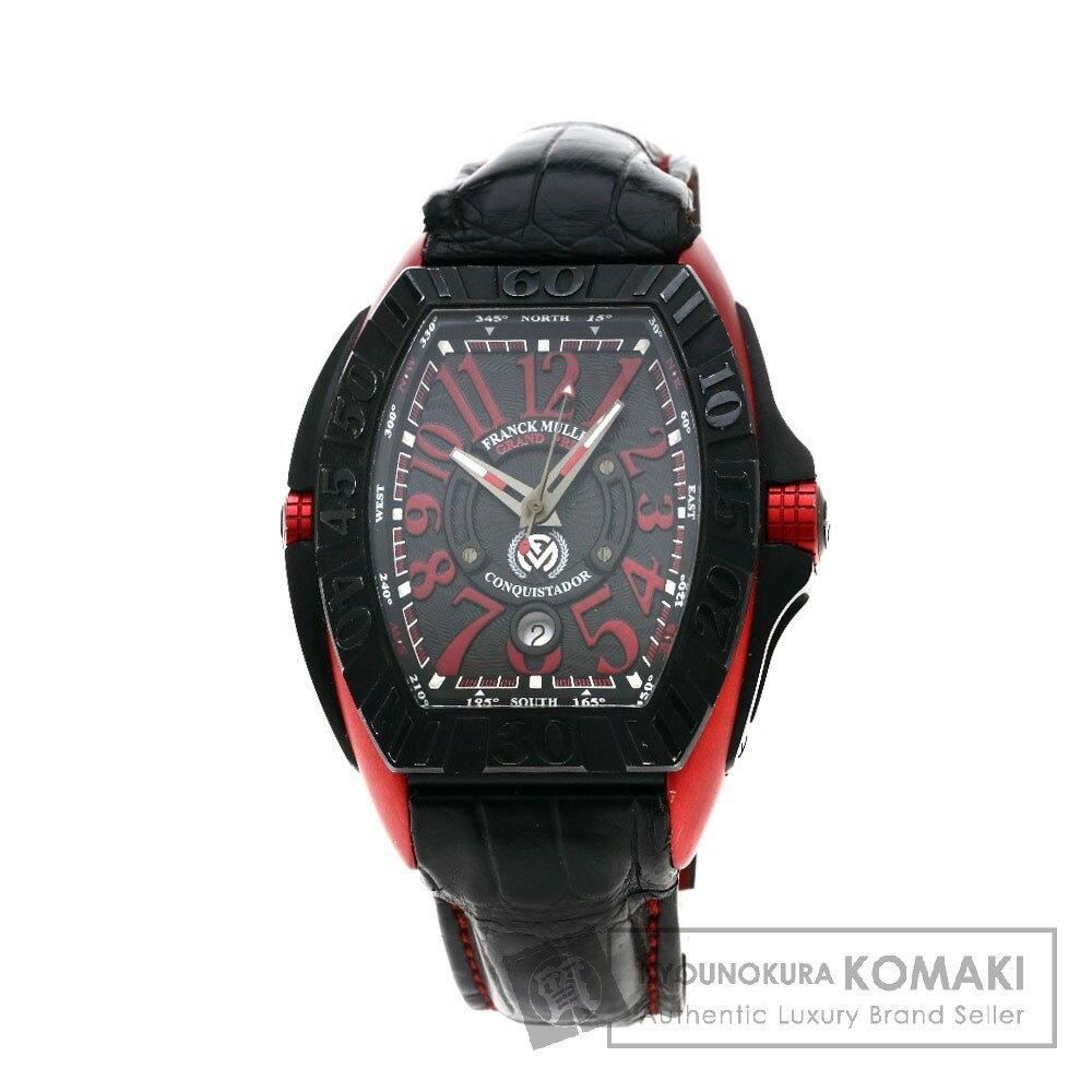 FRANCK MULLER 8900SCJ コンキスタドール グランプリ 腕時計 チタン/クロコダイル メンズ 【中古】【フランクミュラー】