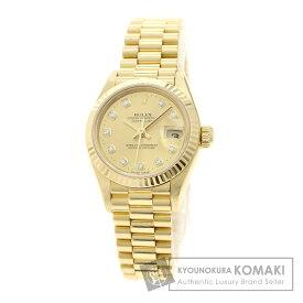 ロレックス 79178G デイトジャスト 10Pダイヤモンド 腕時計 K18イエローゴールド/K18YG レディース 【中古】 【ROLEX】