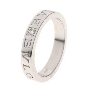 754af6af6296 ブルガリ ダブルロゴ ダイヤモンド リング・指輪 K18ホワイトゴールド メンズ 【中古】【BVLGARI