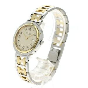 エルメス クリッパー 旧型 腕時計 ステンレススチール/SSxGP ボーイズ 【中古】【HERMES】