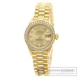 ロレックス 69138G デイトジャスト 10Pダイヤモンド ベゼルダイヤモンド 腕時計 K18イエローゴールド/K18YG レディース 【中古】【ROLEX】