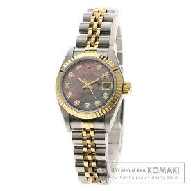 ロレックス 79173NG デイトジャスト 10Pダイヤモンド 腕時計 ステンレススチール/SSxK18YG レディース 【中古】【ROLEX】
