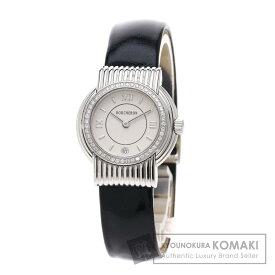 【エントリーでポイント10倍】ブシュロン ソリス 腕時計 ステンレススチール/革 レディース 【中古】【Boucheron】