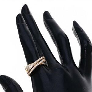 1ct ダイヤモンド リング・指輪 K18ピンクゴールド 5g レディース 【中古】