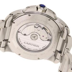 カルティエ W7100016 カリブル ドゥ カルティエ シースルーバック 腕時計 ステンレススチール/SS メンズ 【中古】【CARTIER】