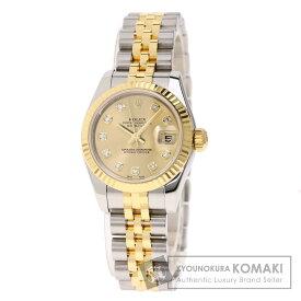 ロレックス 179173G デイトジャスト 10Pダイヤモンド 腕時計 ステンレススチール/SSxK18YG レディース 【中古】【ROLEX】