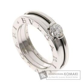 ブルガリ B-zero1リング ダイヤモンド #47 リング・指輪 K18ホワイトゴールド レディース 【中古】【BVLGARI】