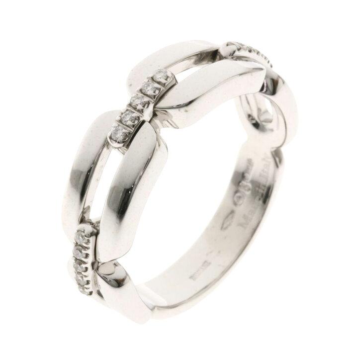 ダミアーニ インスィエメ ダイヤモンド リング・指輪 K18ホワイトゴールド レディース 【中古】【Damiani】