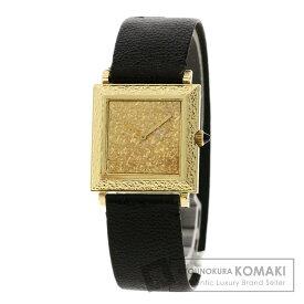 ブシュロン BT1203255 アンティーク 腕時計 OH済 K18イエローゴールド/革 レディース 【中古】【Boucheron】