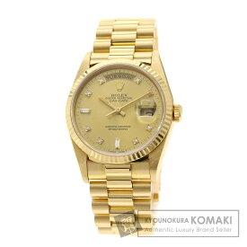 【小牧限定でポイント6倍!】ロレックス 18238A デイデイト 10Pダイヤモンド 腕時計 K18イエローゴールド/K18YG メンズ 【中古】【ROLEX】
