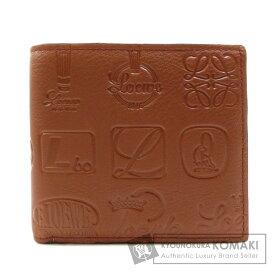 ロエベ ロゴマーク 型押し 二つ折り財布(小銭入れあり) カーフ レディース 【中古】【LOEWE】