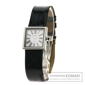 シャネル マドモアゼル 腕時計 ステンレススチール/革 レディース 【中古】【CHANEL】