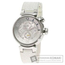 ルイヴィトン Q131M タンブールダイビング  腕時計 OH済 ステンレススチール/ラバー レディース 【中古】【LOUIS VUITTON】