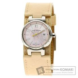 ルイヴィトン Q1216 タンブール ヴェルニ 腕時計 ステンレススチール/革 レディース 【中古】【LOUIS VUITTON】