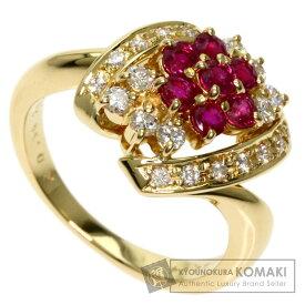 ポーラ ルビー ダイヤモンド リング・指輪 K18イエローゴールド レディース 【中古】【POLA】