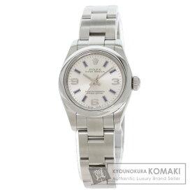 ロレックス 176200 オイスターパーペチュアル 腕時計 OH済 ステンレススチール/SS レディース 【中古】【ROLEX】