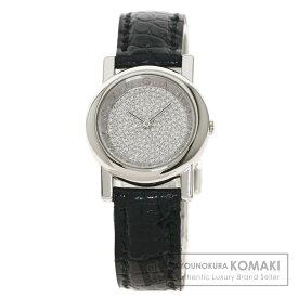 ブルガリ AT26DPL アンフィティアトロ 腕時計 プラチナPT950/革 レディース 【中古】【BVLGARI】