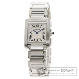 カルティエ W51008Q3 タンクフランセーズ SM 腕時計 ステンレススチール/SS レディース 【中古】【CARTIER】