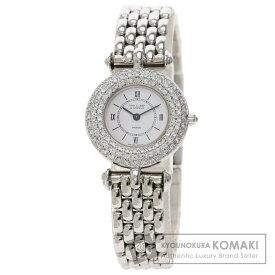 ヴァンクリーフ&アーペル ベゼル ダイヤモンド 腕時計 K18ホワイトゴールド/K18WG レディース 【中古】【Van Cleef & Arpels】
