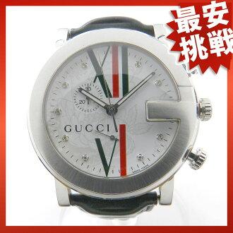 GUCCI101M 皮革 / 绿色的男装手表