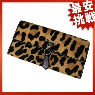 PRADA Leopard print purse wallet