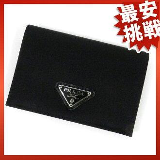 PRADA nylonslimworrett two bi-fold wallets (purses and) nylon unisex