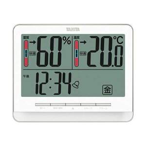 タニタ 温湿度計 ホワイトTT-538WH 1個