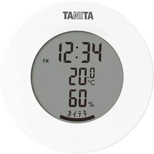 タニタ デジタル 温湿度計 ホワイト TT-585