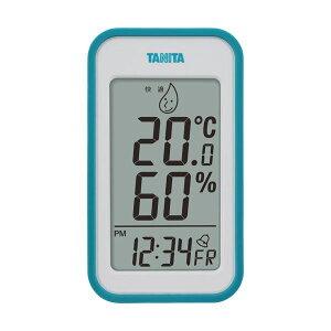 (まとめ)タニタ デジタル温湿度計 ブルーTT559BL 1個【×2セット】