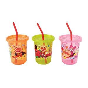 【アンパンマン】 子供用 ストロー付き プラカップ 【3個入】 洗える フタ付き ストローカップ2 【100個セット】