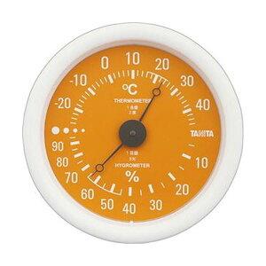 (まとめ)タニタ アナログ温湿度計 オレンジTT-515-OR 1個【×10セット】