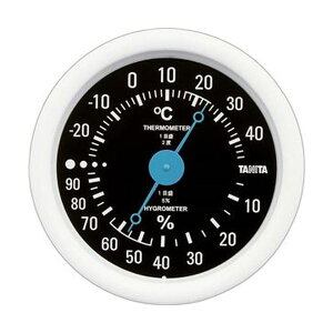 (まとめ)タニタ アナログ温湿度計 ブラックTT-515-BK 1個【×10セット】