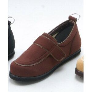 介護靴/リハビリシューズ ブラウン LK-1(外履き) 【片足のみ 24.5cm】 3E 左右同形状 手洗い可/撥水 (歩行補助用品) 日本製