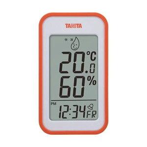 (まとめ)タニタ デジタル温湿度計 オレンジTT559OR 1個【×5セット】