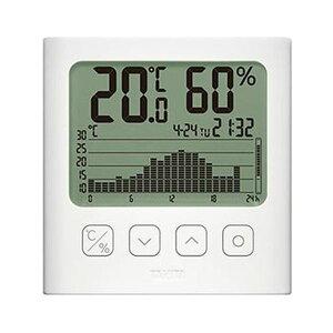 (まとめ)タニタ グラフ付きデジタル温湿度計ホワイト TT-580-WH 1個【×3セット】