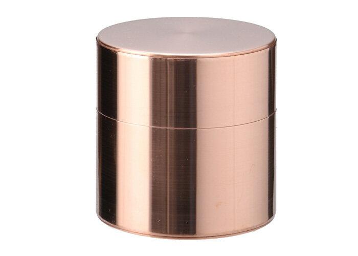 金属特有の手触りと柔らかい光沢が魅力的な茶筒 銅 取込盆用 120g(受注生産品 納期五ヶ月)