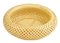 優美な編み模様を堪能可憐でエレガントな竹細工無双籠花六つ目編(大)