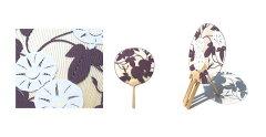 並型両透うちわ朝顔(紫)