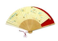 扇子夏扇「洛風扇」京名所(女性用)扇ぐ仕草が女性らしさを印象付ける京扇子